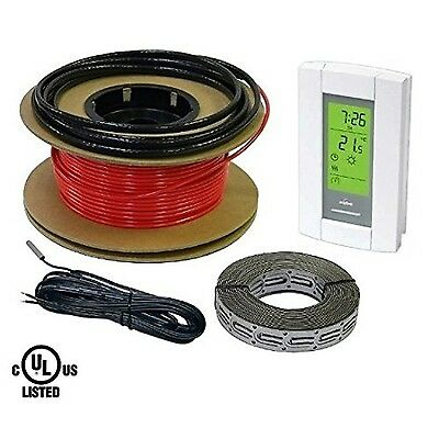 HeatTech 40 sqft Warming Cable Set Electric Radiant In-Floor Heating Cabl... New
