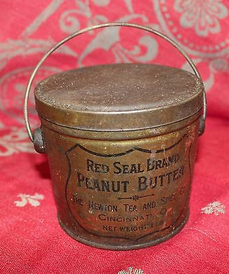 Antique Vintage Red Seal Peanut Butter Advertising Tin