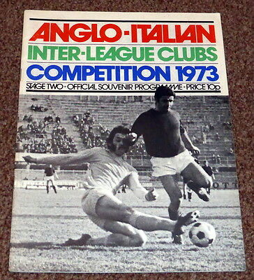 Anglo Italian Inter League Clubs Competition 1973 Stage 2 Programme - Exc Cond
