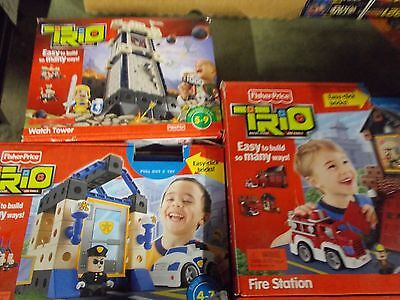 lot of 3 fisher price trio building sets
