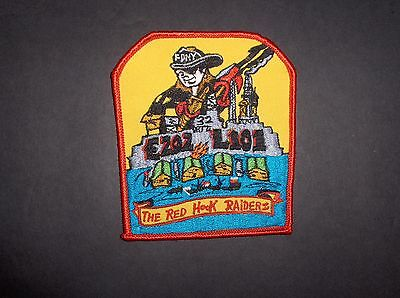 New York Fdny Engine 202 Ladder 101 Red Hook Raiders Fire Dept. Cloth-Back Patch