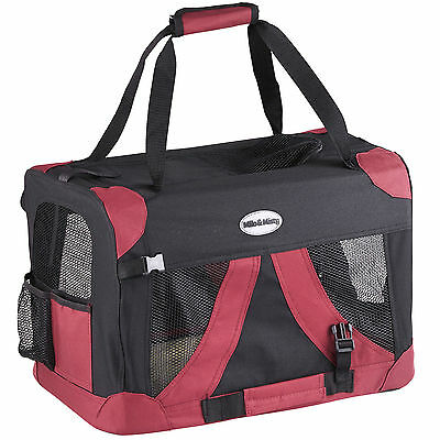 Milo & Misty Lightweight Fabric Pet Carrier Portable Foldable Travel Bag S to XL