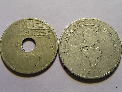 Collection of 2 Middle East Coins - Possibly Tunisia