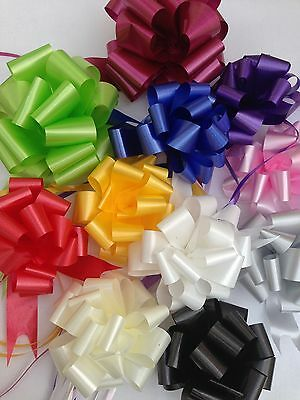 10 Cerise Pink Quick Bow Pull Ribbons 30mm Party Decorations Wedding Christening