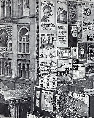 Victorian London The Alhambra Theatre Leicester Sq 1899 Vintage Print Mounted