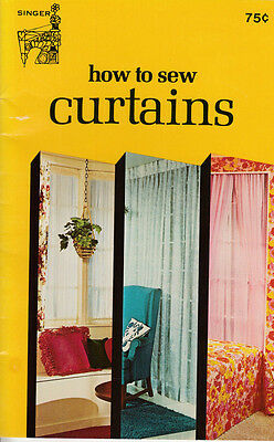 Vintage 1974 Singer Sewing Library How To Sew Curtains