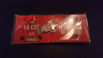 The FA Cup 2015 winners pin badge Arsenal Brand new still sealed