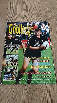 'The Gnolledge' Neath Issue 2 1993/94 Rugby Union Magazine