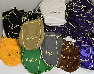 (154) Lot of Crown Royal Bags Purple Black Green Camo Gray Storage Coins Crafts