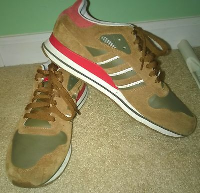 Men's Adidas PYV 702001 Athletic Shoes Size 10 Suede Brown Red EXCELLENT