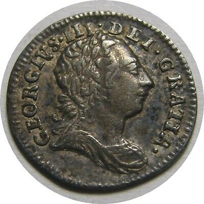 elf  Great Britain 1 Penny 1766 Silver  George III   Maundy