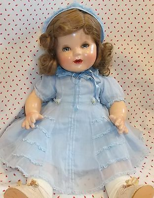 "19"" MADAME ALEXANDER Lollie  mystery Beautiful Composition DOLL 40's era MARKED"