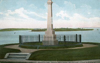 Portland Maine Cleeves Monument Mackworth Island In Distance Postcard1910