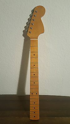 Guitar Neck '70's type' LARGE HEADSTOCK maple 70 ST YL E2