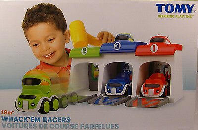 Tomy Produced Whack'em Racers Plastic Race Set Toy For Children Ages 18M+