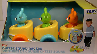 Tomy Produced Cheese Squad Racers Plastic Pull Toy For Children 12M+