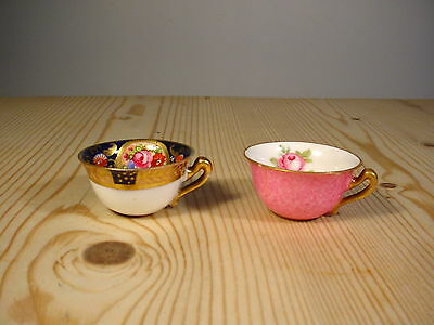 Crown Staffordshire Two Miniature Cups