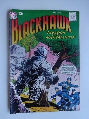 Blackhawk #138   War  Invasion of the Rock Creatures  Dick Dillin   Win Mortimer