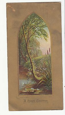 A Happy Christmas Eden Hooper Verse Stream  Gold Vict Card c 1880s