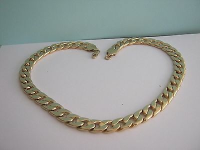 MENS HEAVY GOLD  METAL CURB   CHAIN   SIZE 20 inches