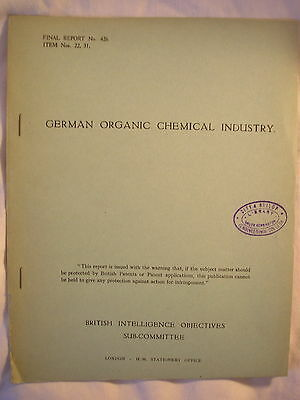 British Intelligence Report Germany Chemical Industry Production History