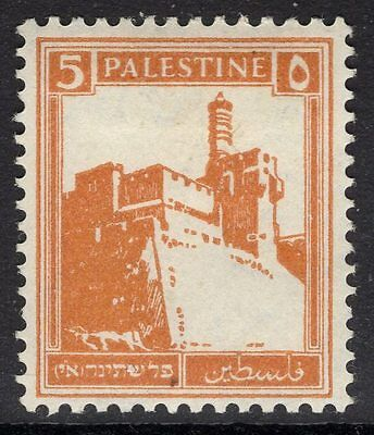 PALESTINE SG93 1927 5m ORANGE MTD MINT