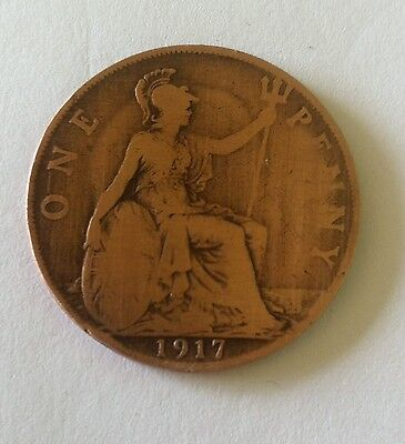 One Penny King George V 1917