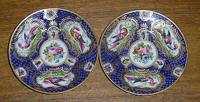 Pair Of Antique 18th Century CHELSEA Porcelain Small Saucers / Dishes - 4 1/8""