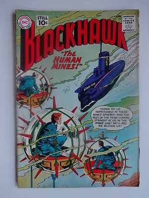 Blackhawk #159  War  Human Mines  Hawk-Sub  The Puppeteer   Dick Dillin