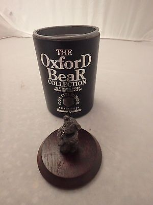 The Oxford Bear Collection Sterling Silver Baby Bear With Dummy