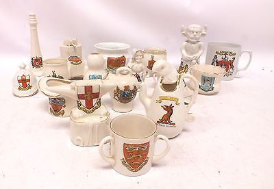 Large Job Lot Of Miniature China CRESTED Ornaments Unboxed - W51