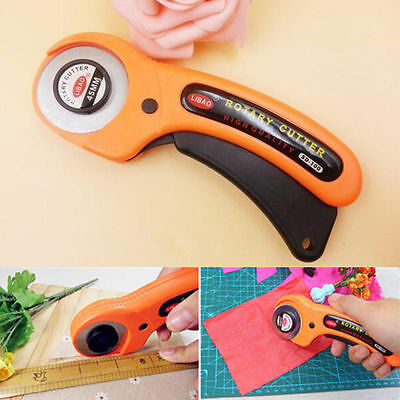 45mm Rotary Cutter Premium Quilters Sewing Fabric Craft Quilting Cutting Tool