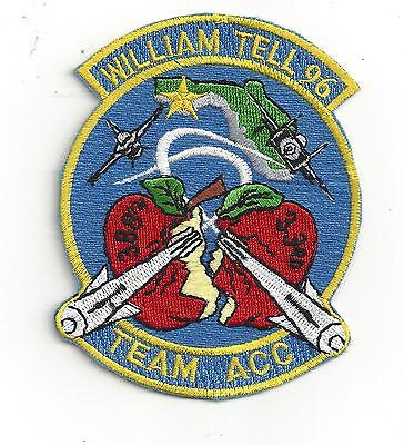 PATCH USAF 33d FIGHTER WING  388th FIGHTER WING WILLIAM TELL 1996 F-15 F-16 ACC