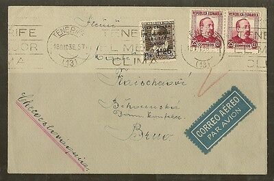 Spain 1936 Cover to Bruo