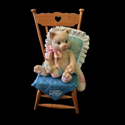Calico Kittens ~ Kitty In Wooden Chair 'Waiting For A Friend Like You' #628662