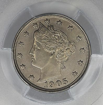 1905 Liberty Head Nickel 5C MS 63 PCGS