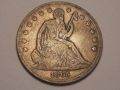 1865 S Seated Liberty Half Dollar (Fine & Attractive)