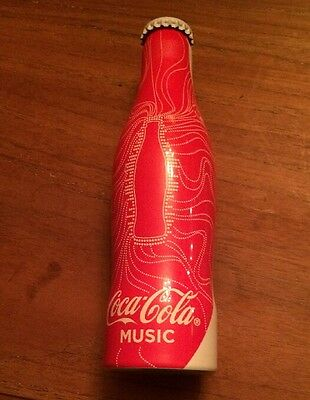 "1 Coca Cola Bouteille Coke Bottle  Alu "" Music  "" France  Full  Pleine"