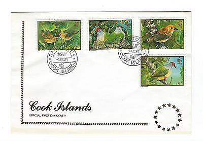 1989 Cook Islands WWF Birds of the Cook Islands SG 1222-1225 First Day Cover