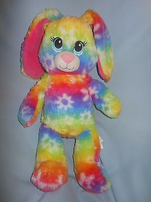 "Build a Bear Bright Blooms Bunny Rabbit 16"" Multi Color Flowers"
