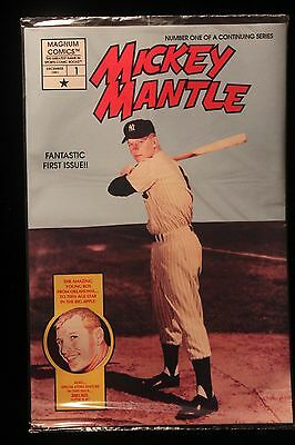 Mickey Mantle 1st Issue Magnum Comic 1991 w/Mickey Mantle Card FACTORY SEALED