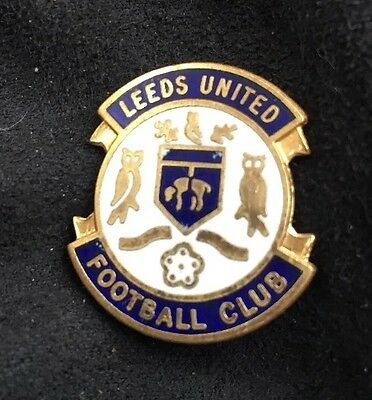 Vintage Leeds United Enamel Badge Old Rare Football Club LUFC Pin Original
