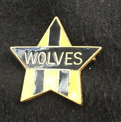 WOLVERHAMPTON WANDERERS Vintage Badge Original Old Antique Rare Pin Wolves FC