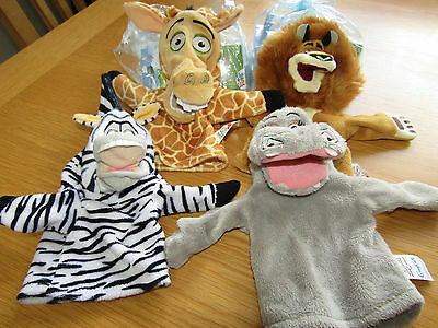 Madagascar 2 Hand Puppets LIMITED EDITION Gloria Alex Julien Marty Persil NEW