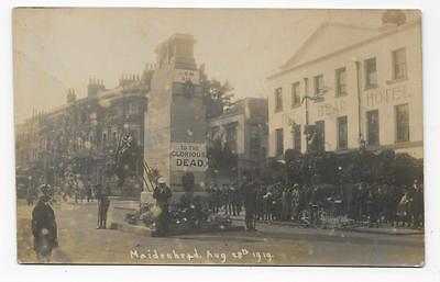 Maidenhead Cenotaph For Ww1 Dead, Outside Bear Hotel, 28-8-1919, Uncommon  Rp.