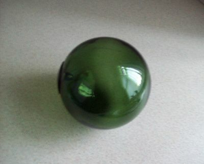Green Glass Witch Ball