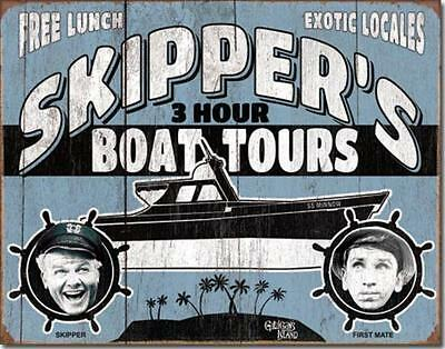 """Skipper's 3 Hour Boat Tour"" Gilligan's Island 1st Mate SS Minnow Tin Sign"