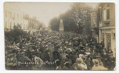 Maidenhead Cenotaph For Ww1 Dead, High Street Crowds, 28-8-1919, Uncommon  Rp.