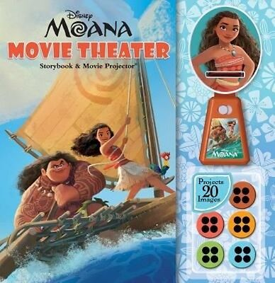 Disney Moana: Movie Theater Storybook & Movie Projector by Disney Hardcover Book