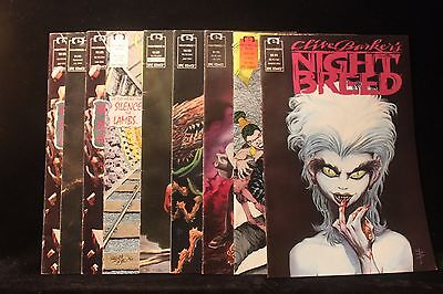 Vintage Lot of 9  Clive Barker's Night Breed Comics 1990's Horror EXCELLENT